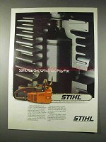 1982 Stihl 011AV Chain Saw Ad - Get What You Pay For