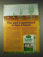 1981 Scotts Family Grass Seed Mixture Ad - Have Future