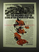 1980 Gravely 8183-T Riding Tractor, Convertible Ad
