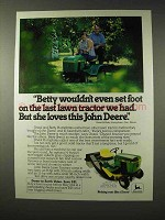 1980 John Deere 108 Lawn Tractor Ad - She Loves This