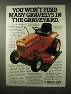 1979 Gravely 8183-T Riding Tractor Ad - Graveyard