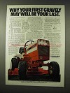 1978 Gravely 818T Tractor Ad - First May Be Your Last
