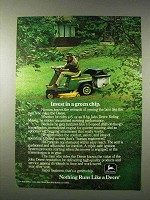 1977 John Deere 68 Riding Mower Ad - Invest Green Chip