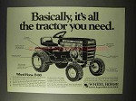 1976 Wheel Horse B-60 Garden Tractor Ad - All You Need