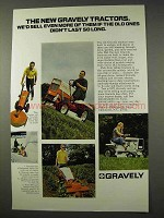 1971 Gravely Tractor Ad - We'd Sell Even More of Them