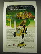 1971 International Harvester Cub Cadet Lawn Mower Ad