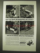 1966 Gravely Lawn Mower Ad - Mows and Maneuvers