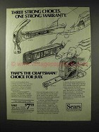 1983 Sears Craftsman Tools Ad - Hammer, Level, Tape