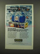 1983 Stanley Garage Door Opener Ad - The Best