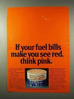 1980 Owens-Corning Fiberglas Insulation Ad - Think Pink