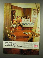 1977 Masonite Earthwood Design Paneling Ad - Kid Lives
