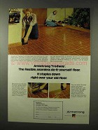 1977 Armstrong Tredway Floor Ad - Staples Over Old