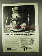1975 Sears Craftsman Commercial Router Ad - Save