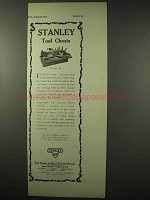 1922 Stanley Tool Ad - Tool Chest No. 888 D