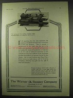 1922 Warner & Swasey Turret Lathes Ad