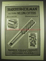 1922 Barber-Colman Milling-Cutters Ad