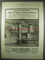 1922 Allis-Chalmers Type E Direct Current Motors Ad