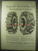 1922 Ingersoll Ad - Channeling, Keywaying Cutters