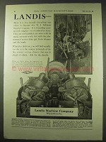 1922 Landis Machine Company Ad