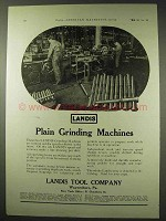 1922 Landis Plain Grinding Machines Ad