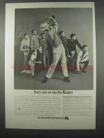 1962 New York State Ad - Every Year We Win The Masters