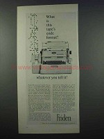 1962 Friden Flexowriter Ad - What is Tape's Code Format