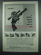 1962 Bushnell 1.3x Phantom Pistol Scope Ad - Exclusive