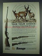 1962 Savage Model 99-DL, 99-F, 99-E Rifle Ad