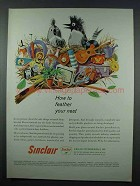1962 Sinclair Oil Ad - How To Feather Your Nest