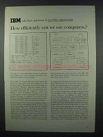 1962 IBM Computers Ad - How Efficiently Can We Use?