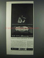 1962 Sony Sterecorder 300 Ad - Strength and Delicacy
