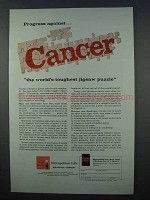 1962 Metropolitan Life Insurance Ad - Cancer