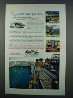 1962 Delta Line Cruise Ad - Ease Executive Pressure