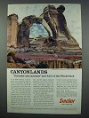 1962 Sinclair Oil Ad - Angel Arch, Utah Canyonlands