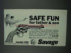 1962 Savage Model 101 Revolver Ad - Safe Fun