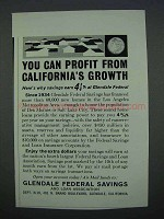 1962 Glendale Federal Savings Ad - You Can Profit