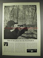 1961 Bausch & Lomb Balvar 8 Scope Ad - The Place