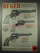 1961 Ruger Blackhawk, Bearcat, Single-Six Revolver Ad