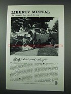 1961 Liberty Mutual Insurance Ad - Passed on the Right