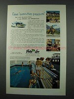 1961 Delta Line Cruise Ad - Ease Executive Pressure
