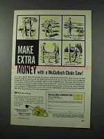 1961 McCulloch One/41 Direct-Drive Chain Saw Ad