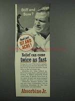 1961 Absorbine Jr. Ointment Ad - Relief Twice as Fast