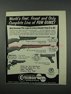 1961 Crosman Gun Ad - 160, 140, 600, Single-Action Six