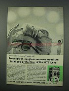 1961 Foster Grant Sunglasses Ad - Total Protection