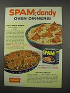 1961 Hormel SPAM Ad - SPAM 'n Noodles Romanoff