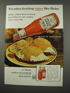 1961 Heinz Ketchup Ad - No Other Ketchup Tastes Like