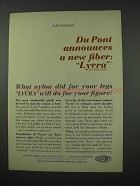 1961 Du Pont Lycra Ad - Will Do For Your Figure