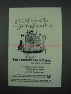 1961 Czechoslovakia Tourism Ad - Welcome