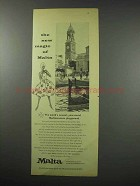 1960 Malta Tourism Ad - The New Magic of Malta