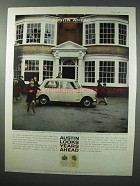 1960 Austin Seven Car Ad - Looks Years Ahead